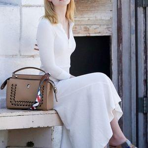Polo Ralph Lauren IVORY Henley Maxi Dress New